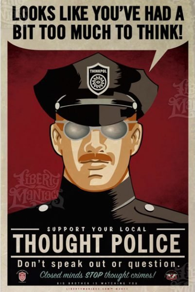 Psicopolizia, polizia del pensiero, 1984