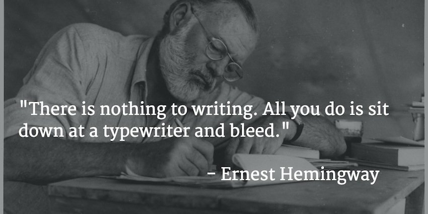 Ernest Hemingway scrittura