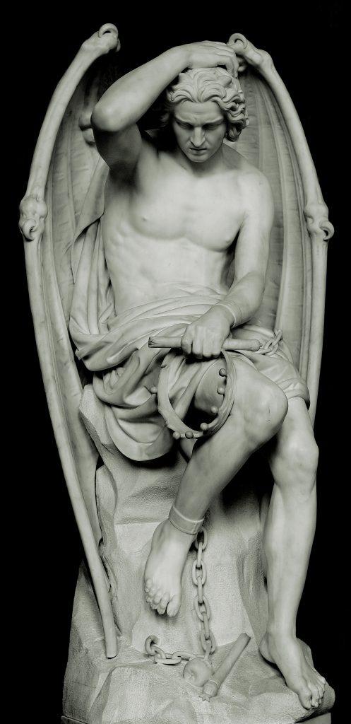 Il Genio del Male, di Guillaume Geefs. Arco di trasformazione di Lucifero