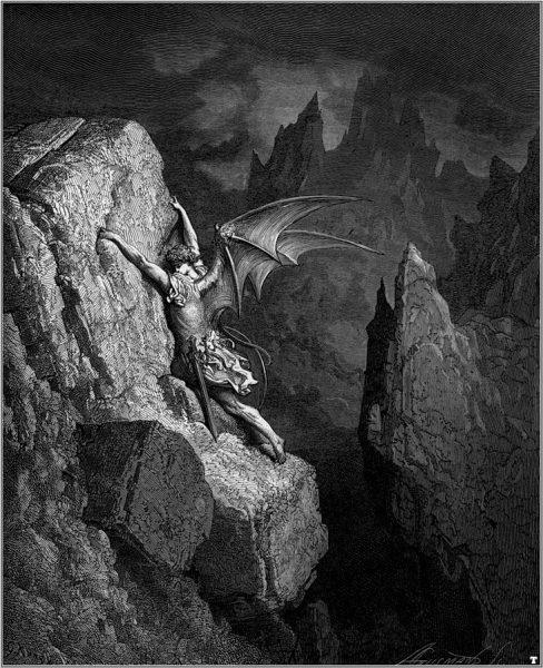 La Caduta di Lucifero, di Gustave Doré