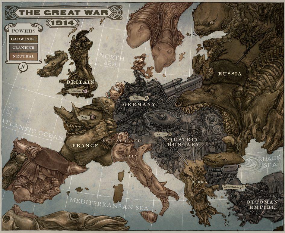Leviathan mappa Scott Westerfeld