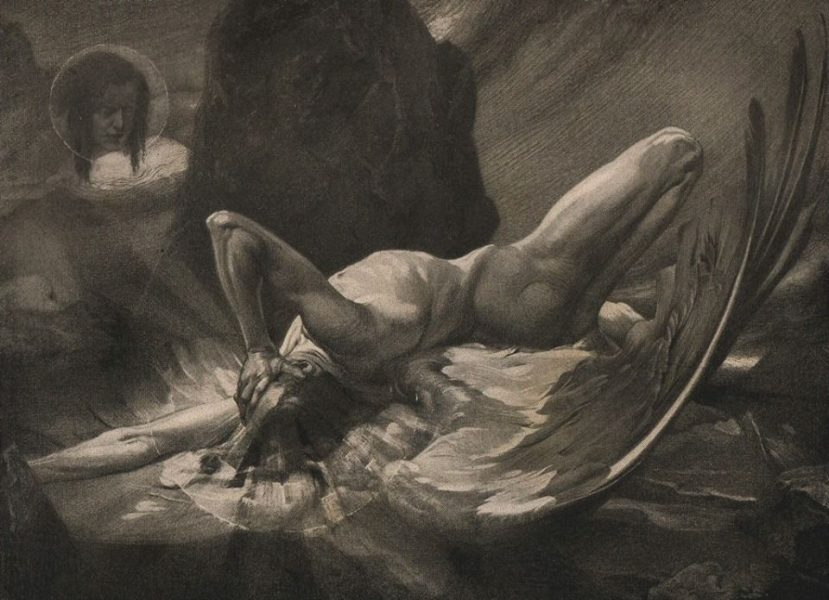 Luzifer's Fall, di Ludwig Fahrenkrog