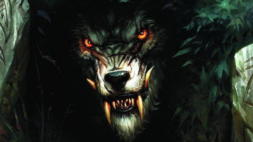 lupo mannaro nel bosco
