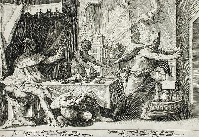Licaone punito da Zeus, Hendrick Goltzius