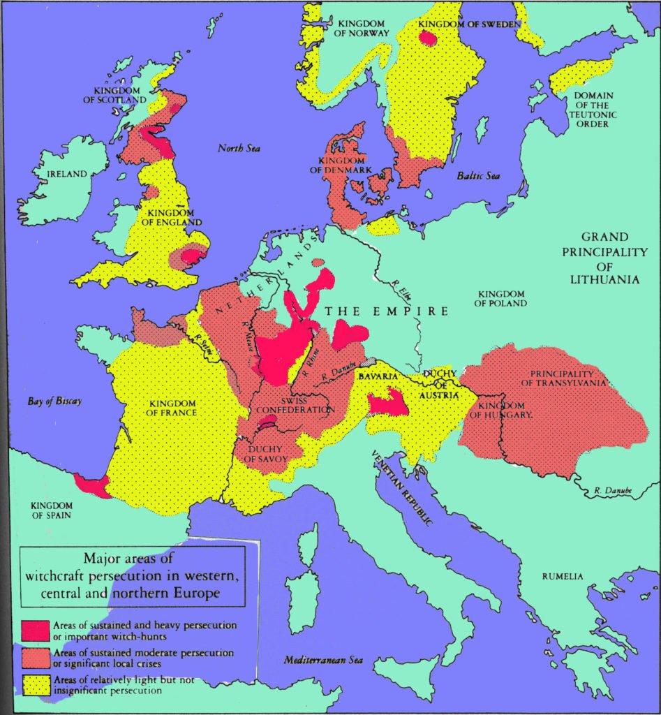 Caccia alle streghe in europa