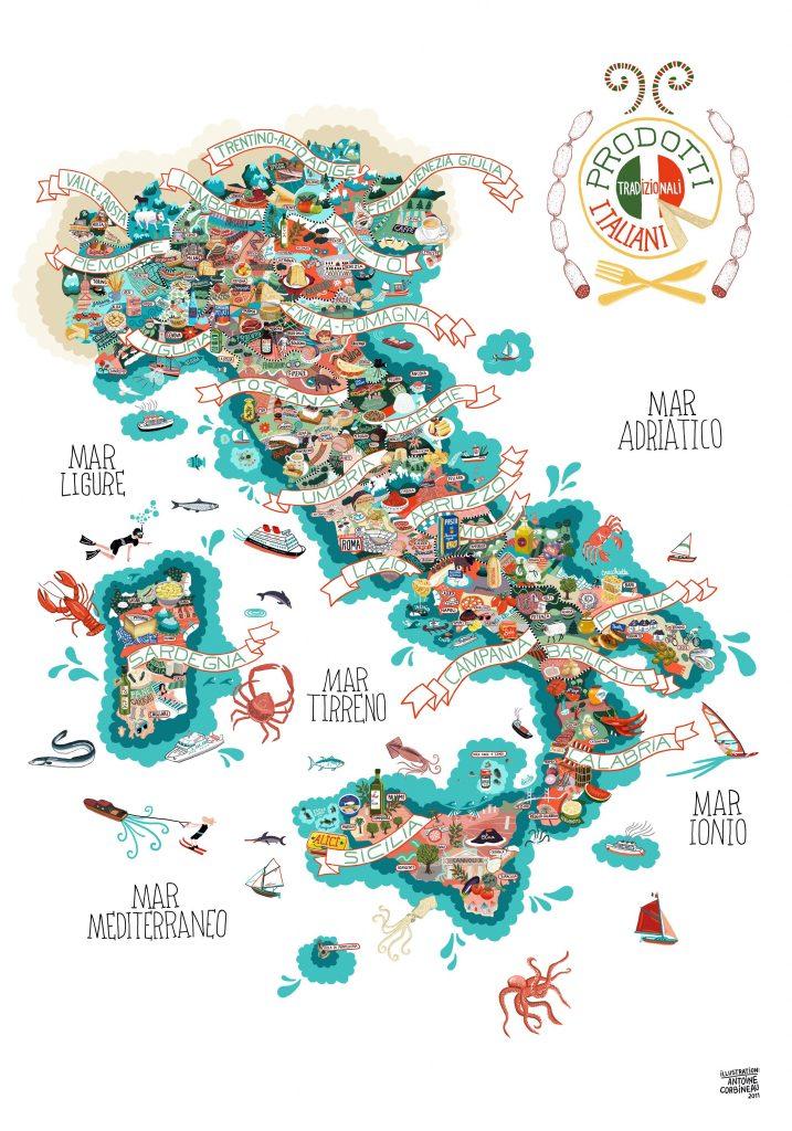 mappa cibi italiani