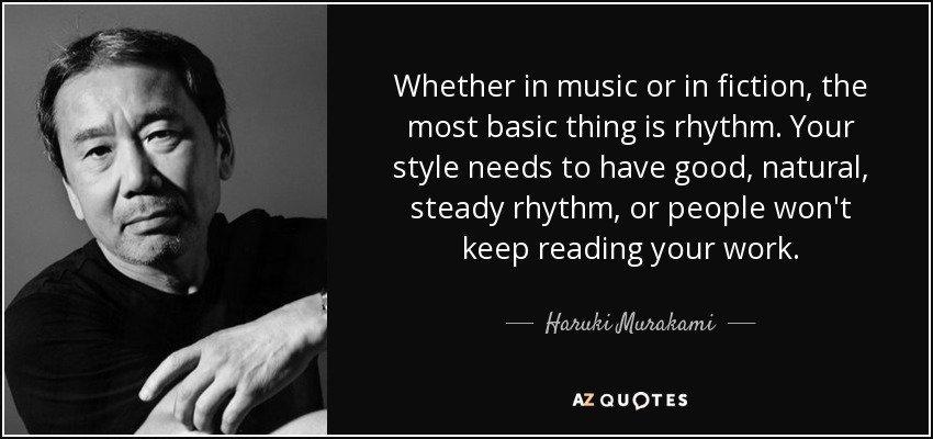 Il Ritmo narrativo per Haruki Murakami