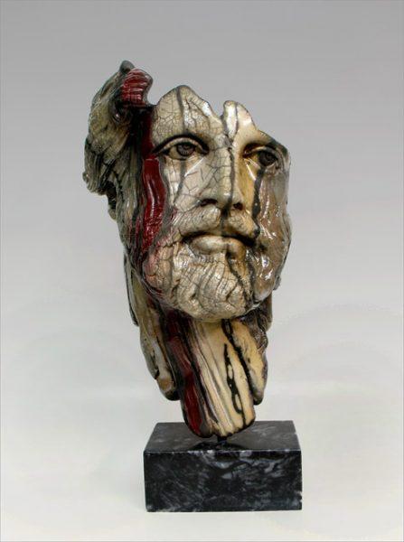 Phillipos maschera Raku di Yiannis Nanouris