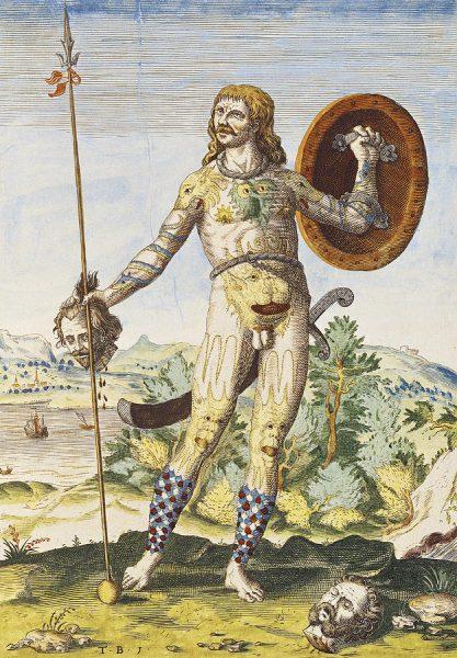 Guerriero pittico Theodor de Bry
