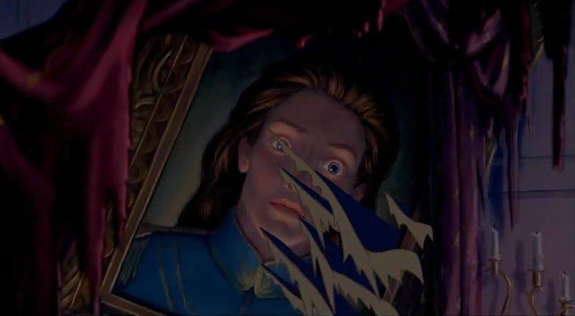 quadro principe La Bella e la Bestia, difetto fatale