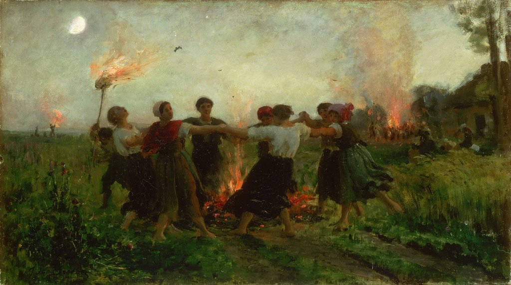 The Feast of Saint John, di Jules Breton. Fuochi di San Giovanni Battista