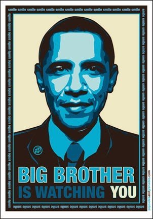 Grande fratello Obama Orwell