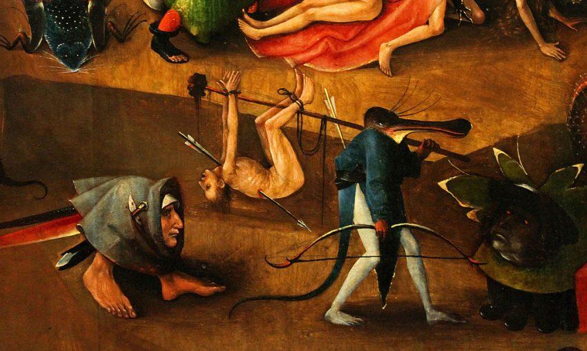 Un Munaciello nel Giudizio Universale di Hieronymus Bosch