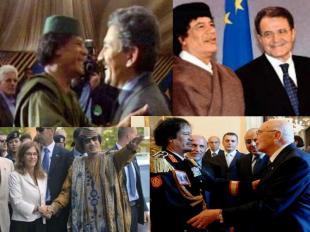 Gheddafi Napolitano