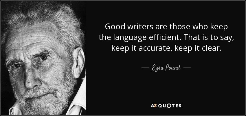Good writers Ezra Pound