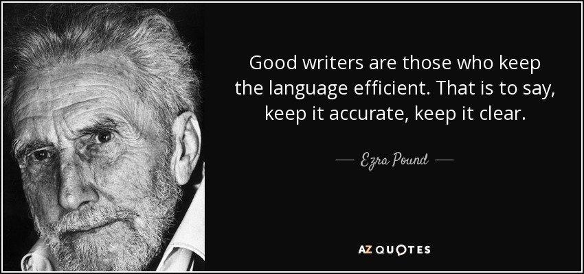 Ezra Pound sulla narrativa moderna e contemporanea