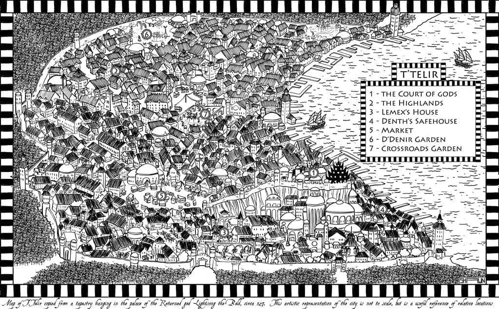 Mappa di T'Telir, di Shawn Boyles