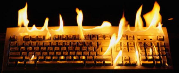 Tastiera in fiamme